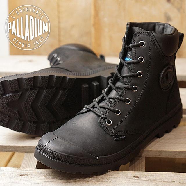 PALLADIUM パラディウム PAMPA CUFF WP LUX パンパ カフ ウォータープルーフ LUX 防水スニーカー 靴 メンズ・レディース BLACK/BLACK (73231-060 FW18)【コンビニ受取対応商品】