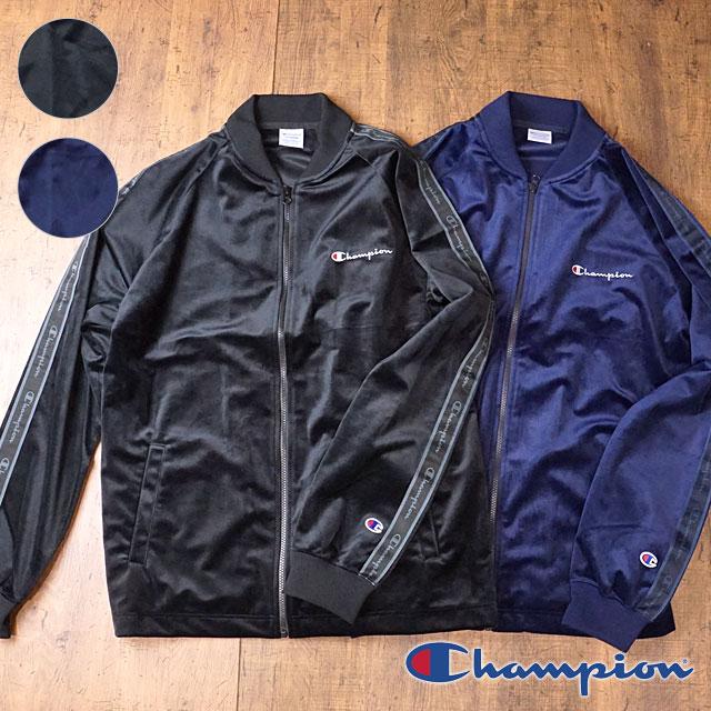 【即納】Champion チャンピオン メンズ ベロア フルジップ ジャケット FULL ZIP JACKET (C3-N609 FW18)【コンビニ受取対応商品】