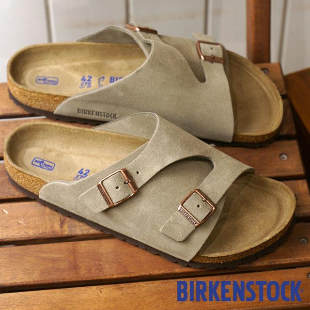 BIRKENSTOCK ビルケンシュトック チューリッヒ ソフトフットベット Zurich SFB スウェードレザー サンダル 靴 メンズ・レディース Taupe (GC1009532 GC1009533 FW18)【コンビニ受取対応商品】