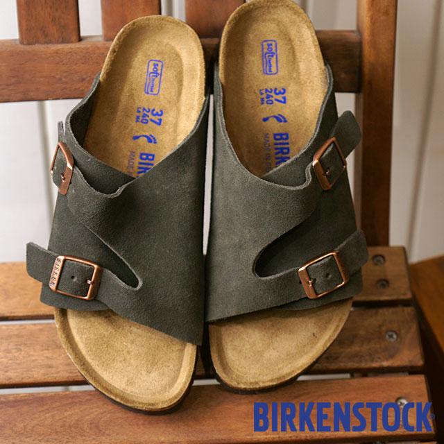 BIRKENSTOCK ビルケンシュトック チューリッヒ ソフトフットベット Zurich SFB スウェードレザー サンダル 靴 メンズ・レディース Mocca (GC1009530 GC1009531 FW18)【コンビニ受取対応商品】