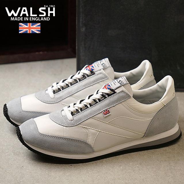 【即納】ウォルシュ WALSH 英国製 ボイジャーVoyagerメンズ スニーカー 靴ホワイト (VOY50154 FW18)【コンビニ受取対応商品】