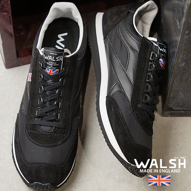 1bd2700f5000 Voyager Voyager men sneakers shoes white   black (VOY50155 FW18) made in  the Walsh WALSH U.K.