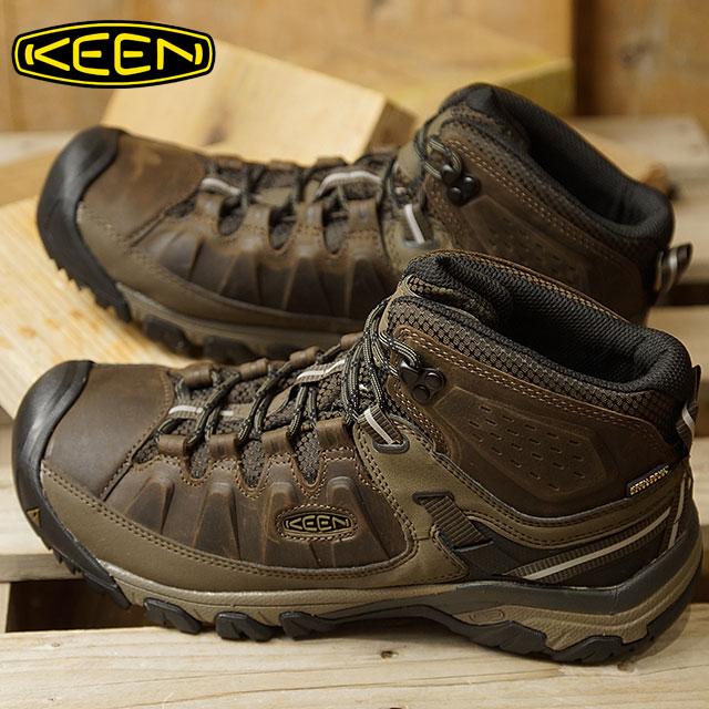 【即納】【限定モデル】キーン KEEN メンズ ターギー スリー ミッド ウォータープルーフ MEN TARGHEE III MID WP ハイキング トレッキングシューズ ブーツ 靴 Canteen/Mulch (1020178 FW18)【コンビニ受取対応商品】