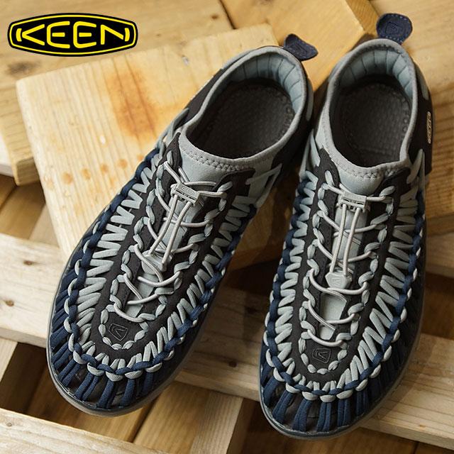 キーン KEEN メンズ ユニーク オーツー MEN UNEEK O2 シューズ スニーカー 靴 Team Gray/Dark Navy (1019943 FW18)【コンビニ受取対応商品】