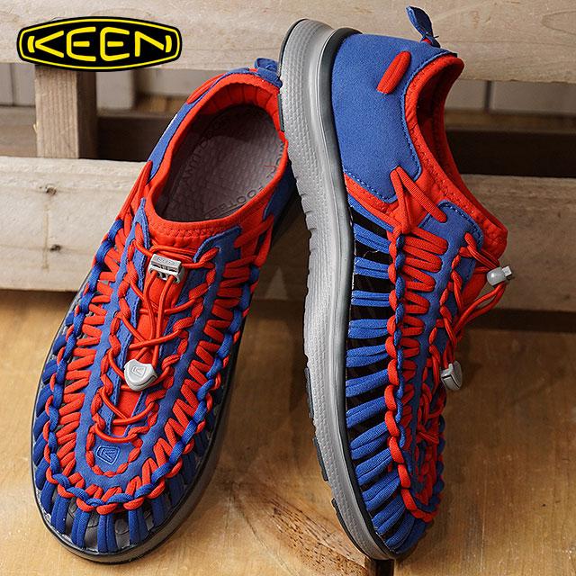 キーン KEEN メンズ ユニーク オーツー MEN UNEEK O2 シューズ スニーカー 靴 Team Blue/True Red (1019944 FW18)【e】【ts】