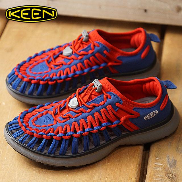キーン KEEN レディース ユニーク オーツー WOMEN UNEEK O2 シューズ スニーカー 靴 Team Blue/True Red (1019948 FW18)【コンビニ受取対応商品】