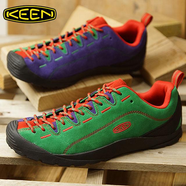 キーン KEEN メンズ ジャスパー MEN JASPER コンフォートシューズ アウトドアスニーカー 靴 Green/Red/Purple (1019466 FW18)【コンビニ受取対応商品】