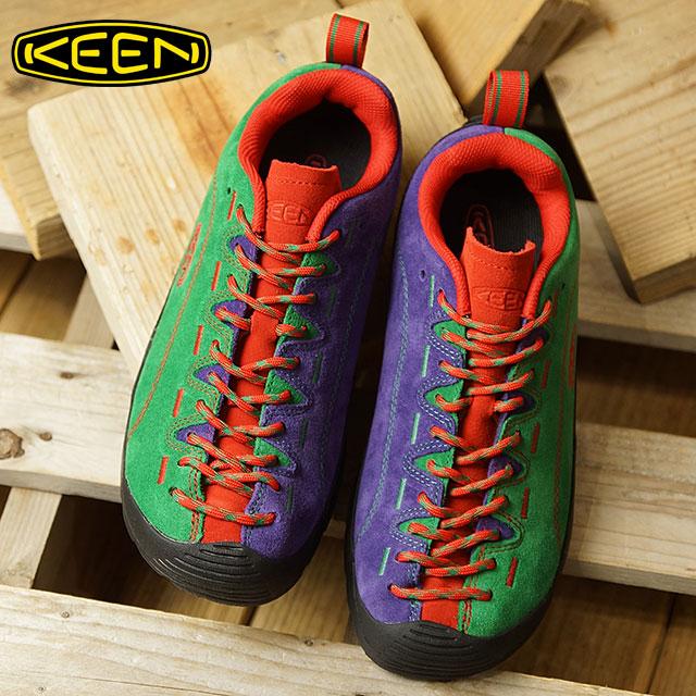 【即納】キーン KEEN レディース ジャスパー WOMEN JASPER コンフォートシューズ アウトドアスニーカー 靴 Green/Red/Purple (1019481 FW18)[e][ts]