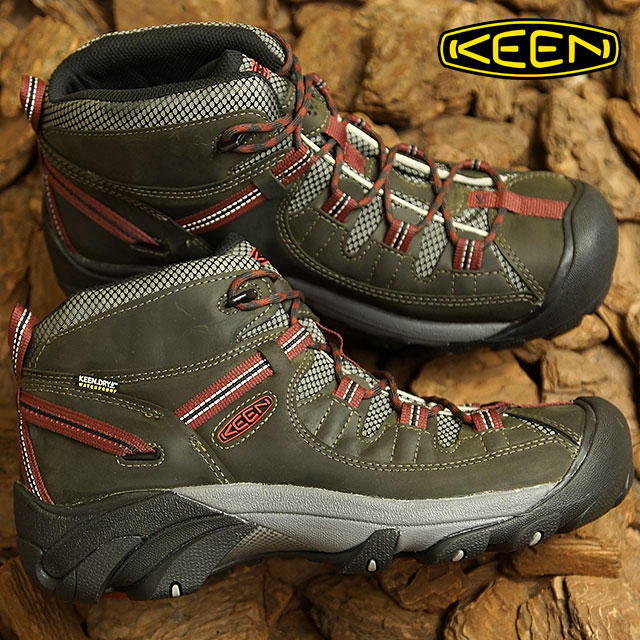 2a3db28da65 Kean KEEN men Targhee two mid waterproof MEN TARGHEE II MID WP hiking  trekking shoes boots shoes Alcatraz/Fired Brick (1019462 FW18)