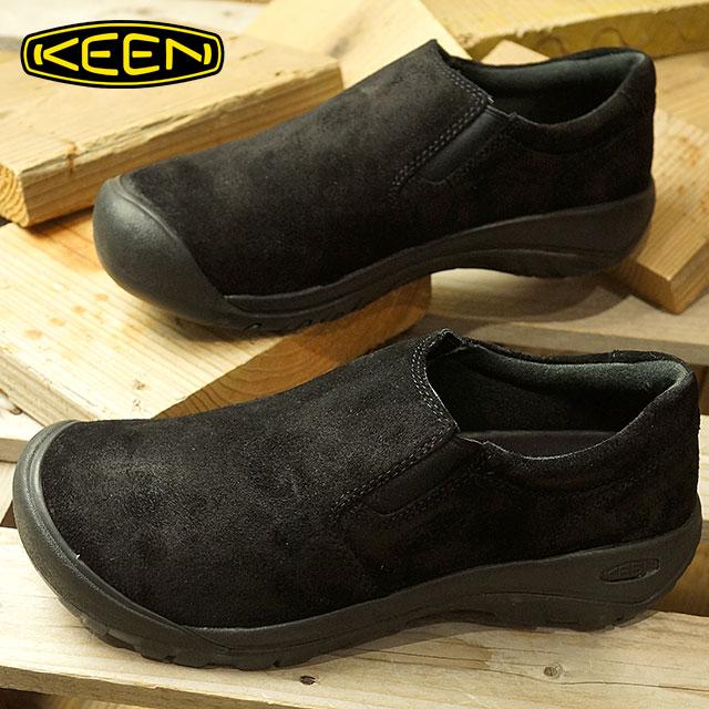 キーン KEEN メンズ オースティン カジュアル スリップ エスディー MEN AUSTIN CASUAL SLIP SD リラックス コンフォートシューズ モック 靴 Black (1019608 FW18)【コンビニ受取対応商品】