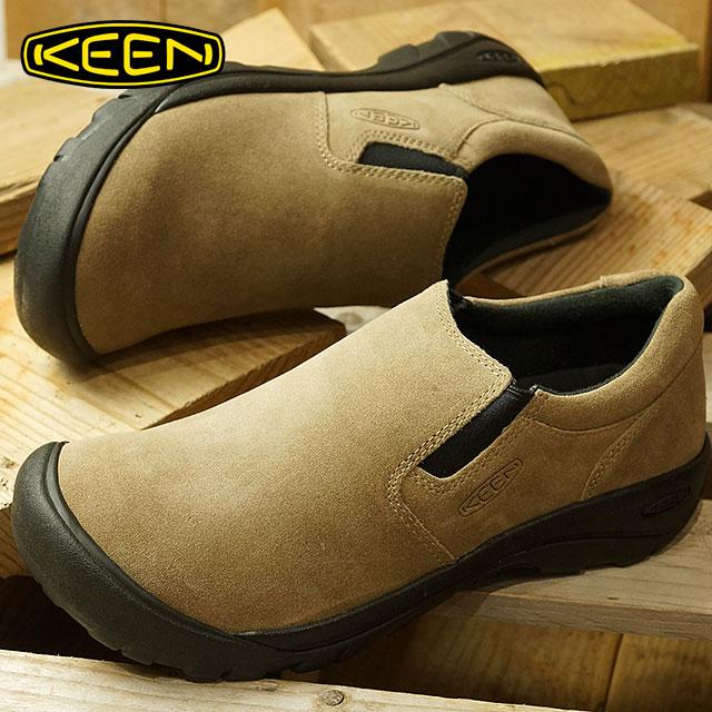 キーン KEEN メンズ オースティン カジュアル スリップ エスディー MEN AUSTIN CASUAL SLIP SD リラックス コンフォートシューズ モック 靴 Silver Mink (1019610 FW18)