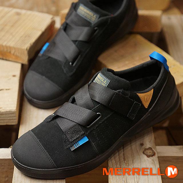 メレル MERRELL メンズ フラッシュアセント スエード M FLASH ASCENT SUEDE アウトドア スニーカー 靴 BLACK (95197 FW18)【コンビニ受取対応商品】