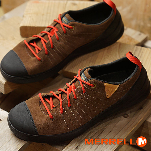 low priced f607d 5677a メレル MERRELL men beta flash suede M BETA FLASH SUEDE outdoor sneakers shoes  DARK EARTH (95185 FW18)