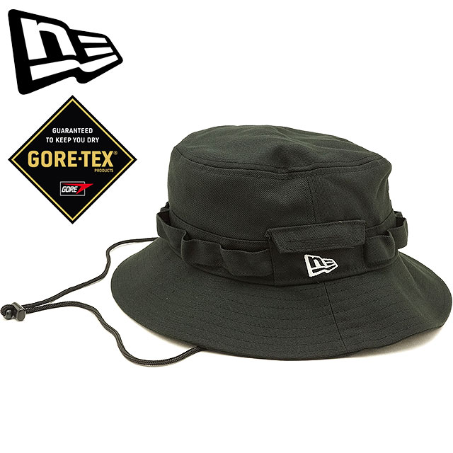 488906ca17c New gills cap NEWERA Gore-Tex adventure hat ADVENTURE GORE-TEX HAT safari  hat men gap Dis hat black (11781323 FW18)