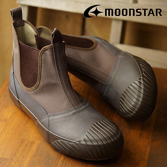 【即納】ムーンスター ファインバルカナイズド Moonstar FINE VULCANIZED オールウェザー サイドゴア ALW SIDEGOA メンズ レディース 日本製 スニーカー 靴 D.BROWN (54321189 FW18)【コンビニ受取対応商品】
