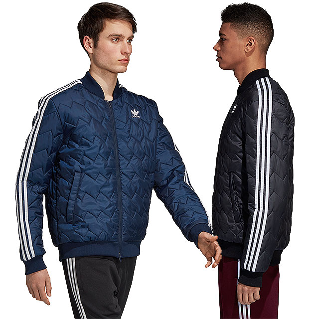 adidas Originals Adidas originals quilting jacket men SST QUILTED JACKET superstar kill Ted jacket (FJC85DH5008 DH5013 FW18)