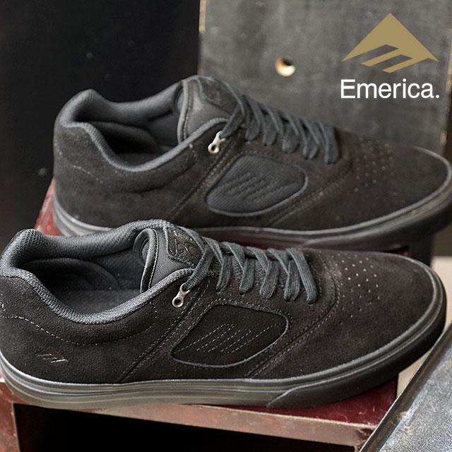 【即納】Emerica エメリカ REYNOLDS 3 G6 VULC レイノルズ3 G6 ヴァルカ スニーカー 靴 スケートシューズ スケシュー メンズ・レディース BLACK/BLACK (FW18)【コンビニ受取対応商品】