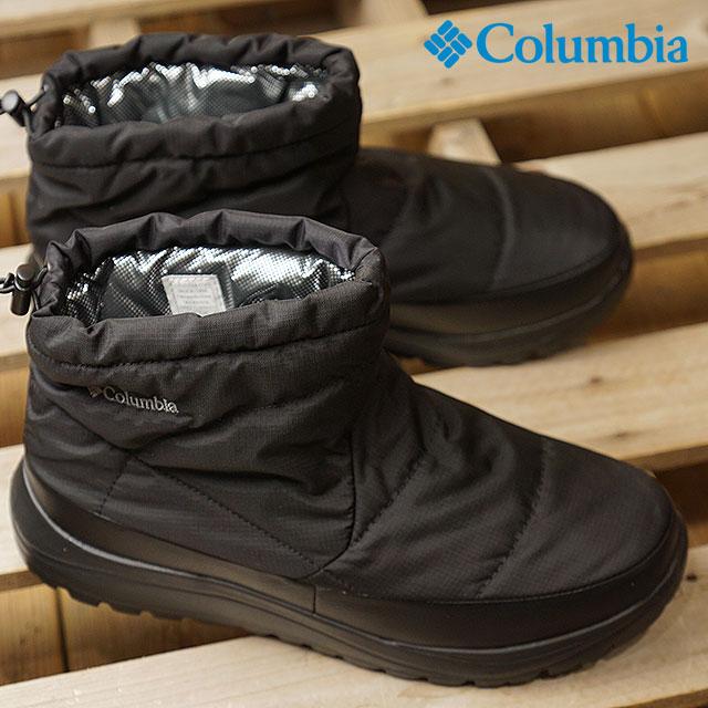 【即納】Columbia コロンビア スノーブーツ SPINREEL MINI BOOT ADVANCE WP OMNI-HEAT スピンリール ミニブーツ アドバンス ウォータープルーフ オムニヒート メンズ・レディース ブラック 靴 (YU3970-010 FW18)【コンビニ受取対応商品】
