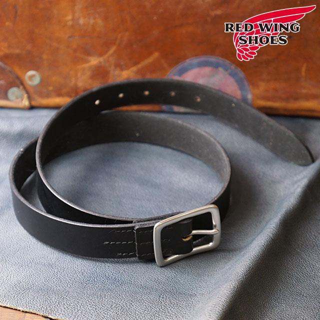 【即納】REDWING レッドウィング #96562 レザーベルト 32mm幅 Leather Belt メンズ Black (96562 FW18)【コンビニ受取対応商品】