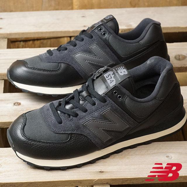 New Balance new balance ML574 men D Wise sneakers shoes BLACK (ML574LHF HO18)