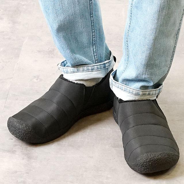 【12/31 14時まで!ポイント10倍】キーン KEEN メンズ ハウザー ツー MEN HOWSER II リラックス コンフォートシューズ モック 靴 Black/Steel Grey (1019616 FW18)