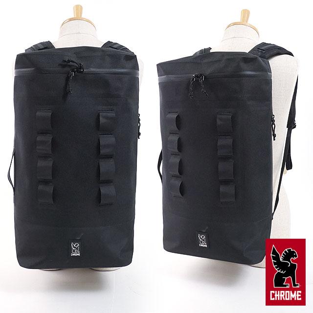 【即納】クローム CHROME 22L 防水仕様 バックパック URBAN EX GAS CAN PACK 22L リュックサック デイパック メンズ レディース BLACK/BLACK (BG254BKBK FW18)【コンビニ受取対応商品】