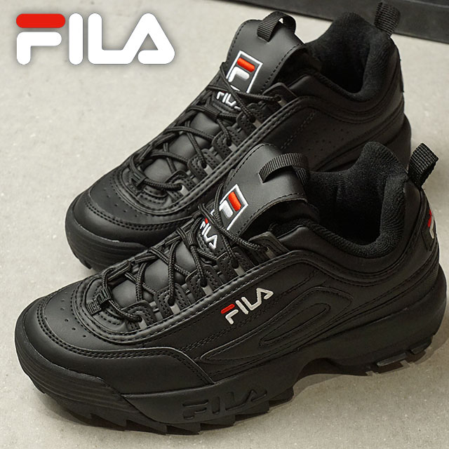 Fila heritage FILA ディスラプター 2 DISRUPTOR 2 men's lady's sneakers shoes black  (F0215-1073 FW18)