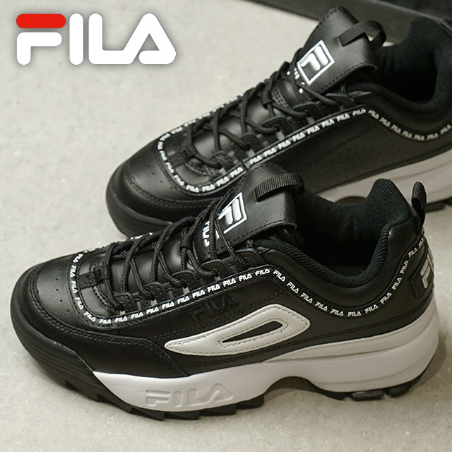 7c2bc6e3 Fila heritage FILA レディースディスラプター 2 premium repeat women DISRUPTOR 2 PREMIER  REPEAT WMNS sneakers shoes black / white / black (F0262-0021 FW18)