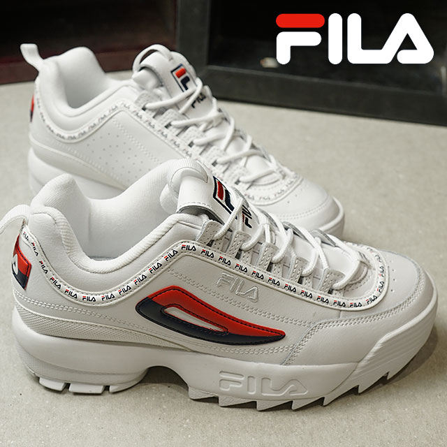 370e939edcb2 Fila heritage FILA レディースディスラプター 2 premium repeat women DISRUPTOR 2 PREMIER  REPEAT WMNS sneakers shoes white  F navy  F red (F0262-0125 FW18)