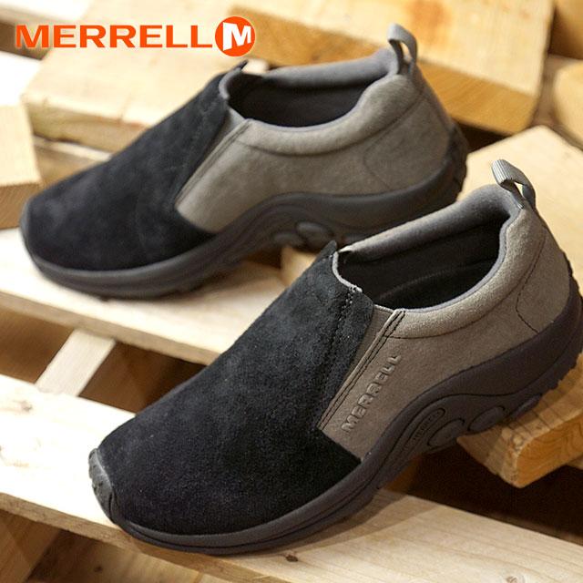 【20周年モデル】【即納】メレル MERRELL レディース ジャングルモック W JUNGLE MOC コンフォートシューズ スニーカー 靴 BLACK/CASTLEROCK (99380 FW18)【コンビニ受取対応商品】