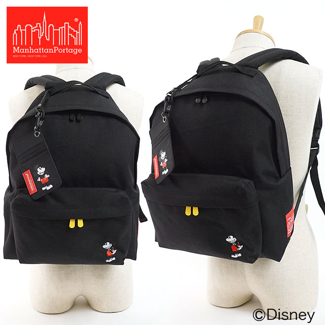 【即納】マンハッタンポーテージ Manhattan Portage ミッキーマウス コレクション Big Apple Backpack ビッグアップル バックパック リュックサック メンズ レディース ディズニー かばんブラック (MP1210MIC18 FW18)【コンビニ受取対応商品】