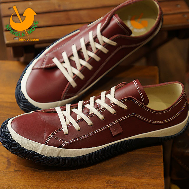 227932665e スピングルムーブ SPINGLE MOVE SPM-101 mousse leather cowhide low-frequency cut  sneakers men shoes shoes Wine (SPM101-47 FW18WINTER)