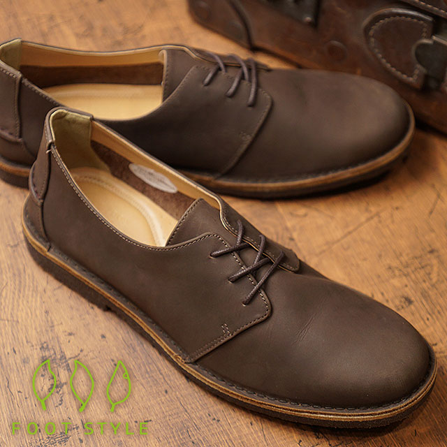 Foot style FOOT STYLE men vintage processing casual leather shoes shoes D.BROWN (FS 3338M FW18)