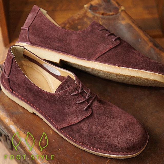 【即納】【返品送料無料】フットスタイル FOOT STYLE メンズ スエード カジュアルレザーシューズ 靴WINE SUEDE (FS-3338M FW18)【コンビニ受取対応商品】