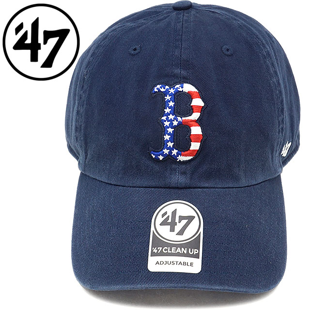7e97c4c29ac10 Forty seven brand  47 Brand cap MLB Red Sox Spangled Banner  47 CLEAN UP Red  Sox span gourde banner  47 cleaning up navy men gap Dis hat Navy  (SPGBN02GWS)