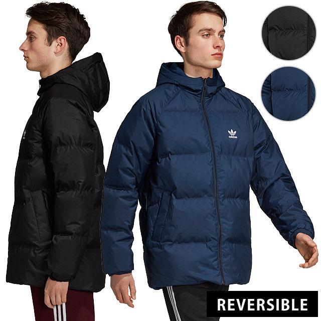 adidas Originals Adidas originals down jacket (reversible) men's SST HOODED DOWN JACKET superstar hooded down jacket (FJC81DH5003 DH5004 FW18)