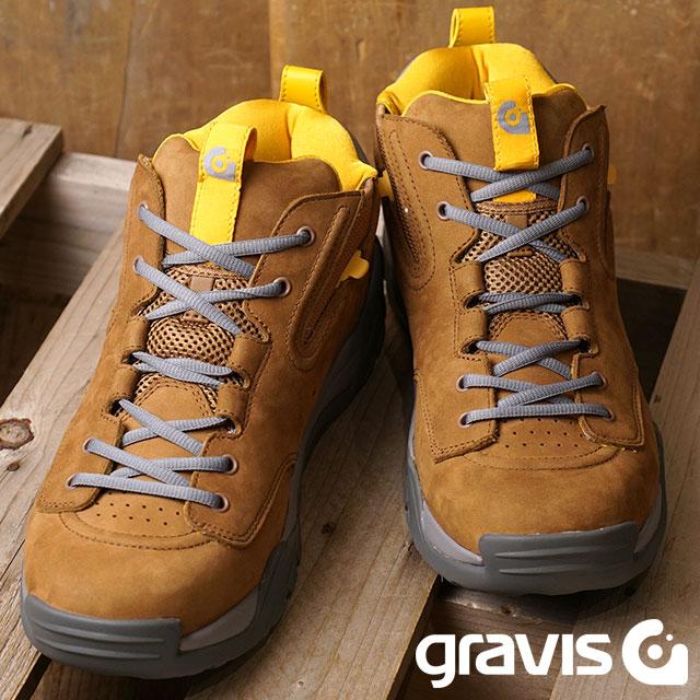【即納】gravis グラビス RIVAL ライバル スニーカー 靴 メンズ GINGER/GRAY (5020 FW18)【コンビニ受取対応商品】
