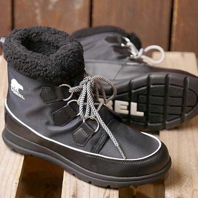 SOREL ソレル レディース ソレルエクスプローラーカーニバル W SOREL EXPLORER CARNIVAL ウィンター スノーブーツ アウトドアブーツ BLACK 靴 (NL3040-010 FW18)【コンビニ受取対応商品】