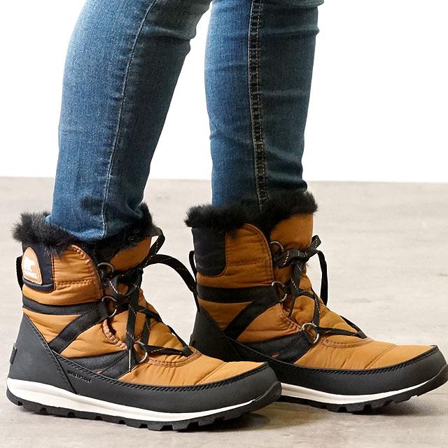 【月間優良ショップ】SOREL ソレル レディース ウィットニーショートレース W WHITNEY SHORT LACE ウィンター スノーブーツ アウトドアブーツ CAMEL BROWN 靴 (NL2776-224 FW18)【ts】【e】