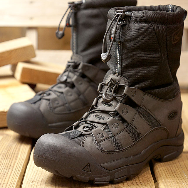 dbde310519a Kean KEEN men winter port two MEN WINTERPORT II winter boots snow boot  shoes True Black (1019469 FW18)