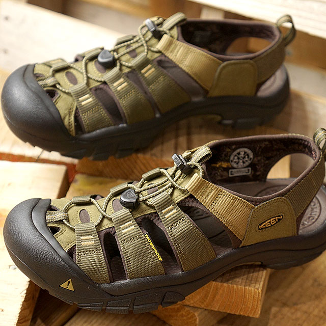 f9f356d3b3a Kean KEEN men Newport high mud MEN NEWPORT HYDRO water shoes sports sandal  Dark Olive Antique Bronze (1018941 FW18)