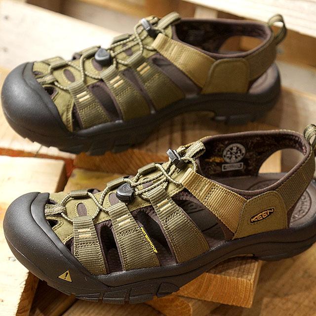 (15周年モデル)キーン KEEN メンズ ニューポート ハイドロ MEN NEWPORT HYDRO ウォーターシューズ スポーツサンダル 靴 Dark Olive/Antique Bronze (1018941 FW18)【e】