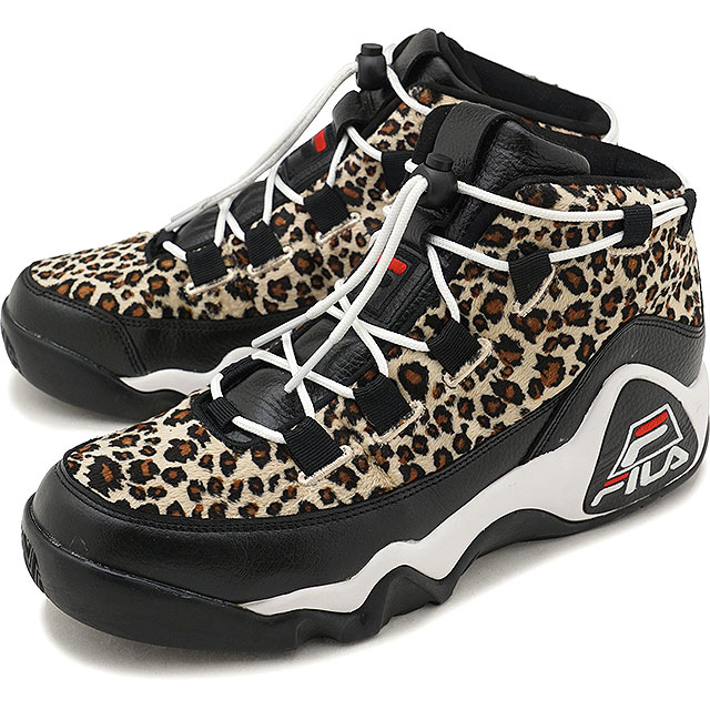 Fila遺產FILA 95 purimoreopado 95 PRIMO LEOPARD人運動鞋鞋黑色/棕色(F0224-0001 FW18)