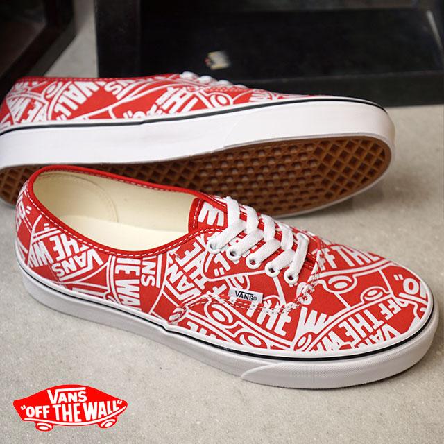 2559414fb8 Vans VANS authentic AUTHENTIC OTW REPEAT men gap Dis sneakers shoes RED T. WHITE (VN0A38EMUKL HO18)