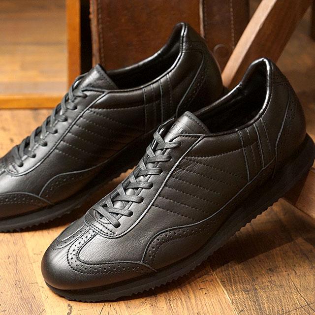 【即納】【返品送料無料】パトリック PATRICK ティンカー・ウォータープルーフ TINKER-WP 防水レザー メンズ 靴 シューズ ビジネス スニーカー ブラック BLK (530961 FW18Q4)【コンビニ受取対応商品】