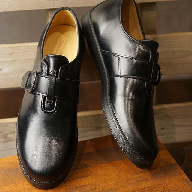トップセブン TOP SEVEN TS-5517 モンクストラップ レザー ラグジュアリー スニーカー BLACK メンズ 靴 (FW18)【ts】【e】