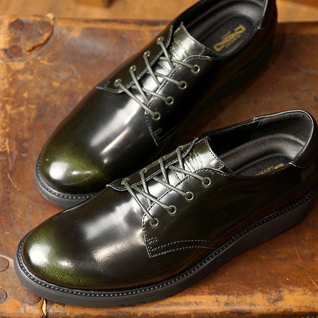 トップセブン TOP SEVEN TS-5516 Vibram ビブラムソール ガラスレザー ラグジュアリー スニーカー D.KHAKI メンズ 靴 (FW18)【コンビニ受取対応商品】