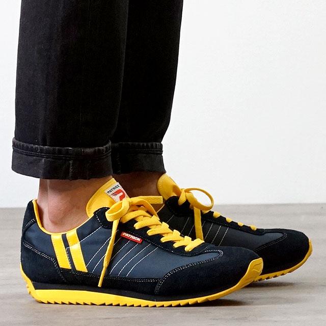 【月間優良ショップ】【ノベルティプレゼント】【返品送料無料】パトリック PATRICK スニーカー MARATHON マラソン メンズ・レディース 日本製 靴 NAVY ネイビー (9422)