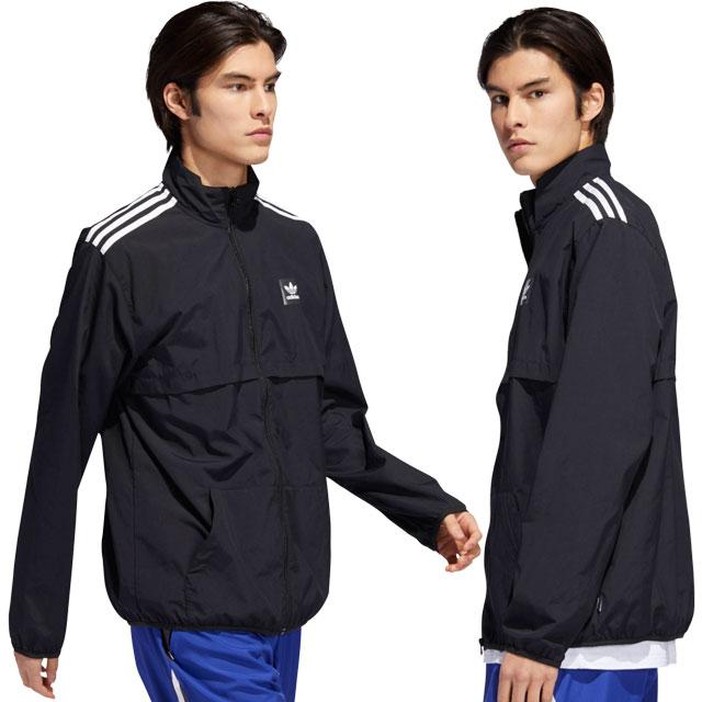 Adidas skateboarding adidas Originals men nylon jacket CLASS ACTION JKT windbreaker black (FJH80DU8324 SS19)