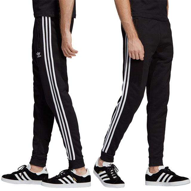 Adidas originals adidas Originals men slim fitting sweat shirt underwear 3  STRIPES PANTS three stripe underwear black (FUD20/DV1549 SS19)